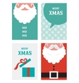 four retro cards for Christmas in hipster style vector image
