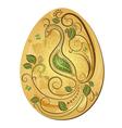 Gold big Easter egg vector image