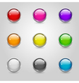 Colored round web buttons vector image