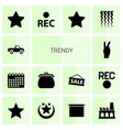 14 trendy icons vector image vector image
