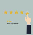 5 stars rating or raking conceptrating or raking vector image