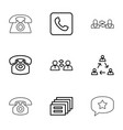 9 conversation icons vector image vector image