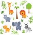 african animals nursery set vector image