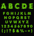 alphabet numbers signs made green slime vector image vector image