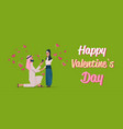 arab man kneeling holding engagement ring vector image vector image