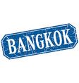 Bangkok blue square grunge retro style sign vector image vector image