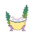 bathtub with seaweed icon vector image