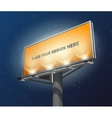 Billboard lighted night image vector image vector image