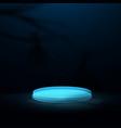 blue circle podium display halloween background vector image