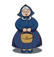 Cartoon Character Funny Granny vector image