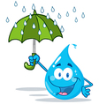 Cartoon water droplet vector image vector image