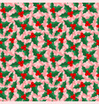 christmas background with holly berries vector image