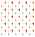 Colorful Curved Diamonds Pattern vector image vector image