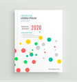 colorful funky brochure book cover with dots vector image