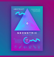 colorful geometric background gradient fluid vector image vector image