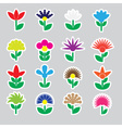 colorful simple retro small flowers set of vector image vector image