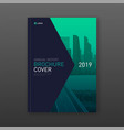 construction brochure cover design layout vector image vector image