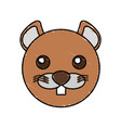 cute beaver drawing animal vector image vector image