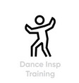 dance insp training activity icon vector image vector image