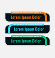 dark color lower third flat style banner design vector image vector image