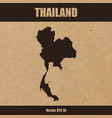 detailed map of thailand on craft paper vector image vector image