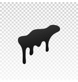 drip paint ink stain drop melt liquid isolated vector image