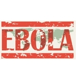 Earth with words Ebola Virus vector image
