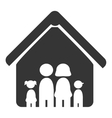 Family and home pictrogram design vector image vector image
