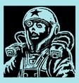 female face astronaut in helmet vector image vector image