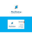 flat document setting logo and visiting card vector image vector image