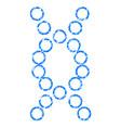 genome grunge icon vector image