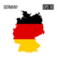 germany map border with flag eps10 vector image