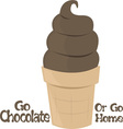 Go Chocolate vector image vector image