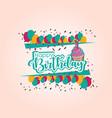 happy birthday template design vector image vector image
