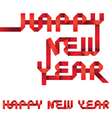 Happy New Year Origami Style vector image vector image