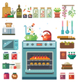 Home kitchenware vector image vector image