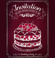 invitation card to event or birthday retro vector image vector image