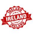 ireland round ribbon seal vector image vector image