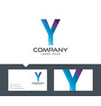 letter y - logo design vector image vector image