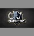 modern professional mammoth logo vector image vector image