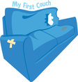 My First Couch vector image vector image