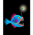 nice deep sea fish cartoon vector image vector image
