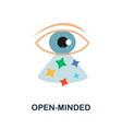 open-minded icon simple element from core values