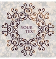 Ornate floral asian mandala Round frame for your vector image