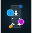 phone screen in glassmorphism style vector image vector image