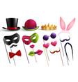 realistic masquerade essentials set vector image vector image