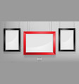 red and black photo frame mockup vector image