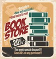 Retro bookstore poster design vector | Price: 1 Credit (USD $1)