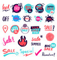 sale banner collection drawn style vector image