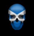 Scottish flag skull vector image